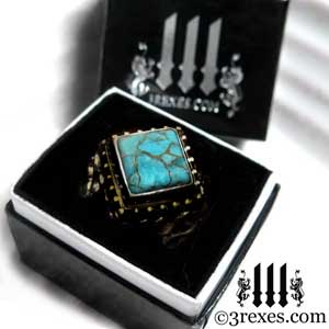 3-rexes-glam-ring-box-brass-raven-love-brass-turquoise-stone-by-3-rexes-jewelry