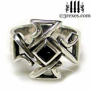 bohemian-cross-band-ring-black-onyx-front-mens-silver-gothic-wedding-band.jpg