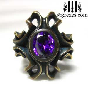 brass-empress-vampire-ring-japanese-amethyst-purple-stone