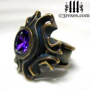 brass-empress-vampire-ring-japanese-amethyst-purple-stone-side-detail