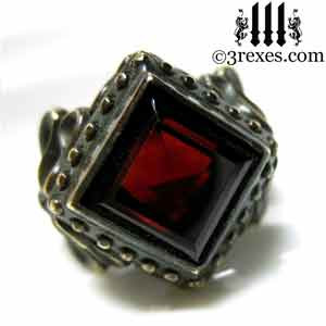 brass-raven-love-wedding-ring-gothic-garnet-stone-january-birthstone-jewelrya