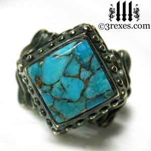brass-raven-love-wedding-ring-gothic-blue-copper-turquoise-cocktail-band