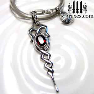 dripping-celtic-silver-necklace-garnet-january-birthstone-jewelry-by-3-rexes-jewelry