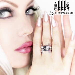 silver-lovers-fairy-crown-ring-garnet-stone-gothic-wedding-rings-3-rexes-jewelry