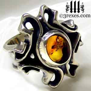 empress-gothic-ring-925-sterling-silver-amber-statement-jewelry-side-detail-3-rexes-jewelry