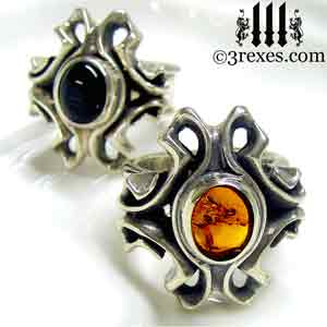 empress-gothic-rings-925-sterling-silver-black-onyx-amber-stones-statement-jewelry-3-rexes-jewelry