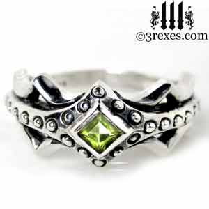 fairy-princess-engagement-ring-green-peridot-stone-sterling-silver-friendship-band-august-birthstone-jewelry-with-studs
