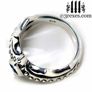 fairy-princess-engagement-ring-sterling-silver-studs-friendship-band-medieval-fairytale-jewelry