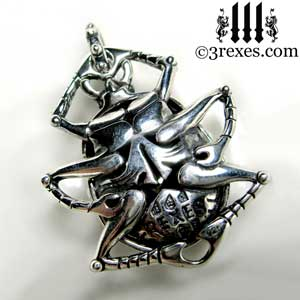 Forever scarab silver necklace 3 rexes jewelry silver scarab necklace aloadofball Gallery