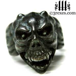 gargoyle-skull-ring-black-devil-brass-band-for-men-open-mouth-3-rexes-jewelry