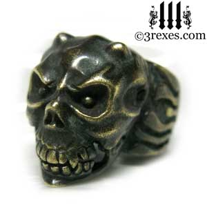 gargoyle-skull-ring-dark-devil-brass-band-for-men-open-mouth-3-rexes-jewelry