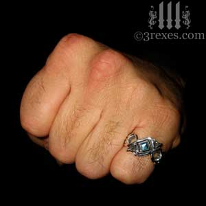 mens-bohemian-gothic-z-ring-blue-topaz-celtic-silver-band-3-rexes-jewelry