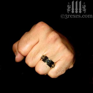 mens-moorish-gothic-one-stone-ring-dark-black-antiqued-brass-black-onyx-stone-royal-engagement-band-fist