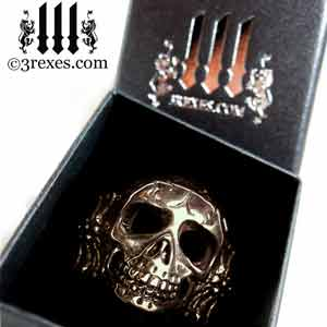 mens-skull-ring-black-brass-biker-band-black-ring-box-3-rexes-jewelry