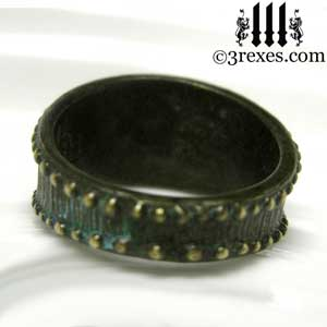 mens-studded-iron-cross-ring-knights-templar-band-dark-brass-back-3-rexes-jewelry