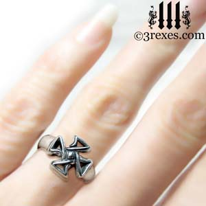 mini-celtic-cross-silver-ring-friendship-jewelry