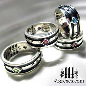 mens-moorish-gothic-rings-3-rexes-jewelry-925-sterling-silver