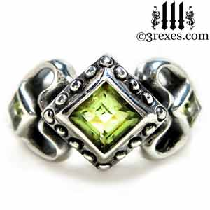 princess-love-ring-green-peridot-stones-silver-gothic-wedding-ring-3-rexes-jewelry.jpg