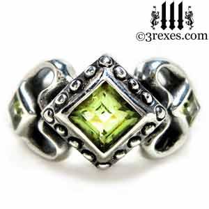 princess-love-ring-green-peridot-stones-silver-gothic-wedding-ring-3-rexes-jewelry.jpg