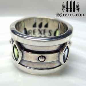 silver-moorish-marquise-wedding-ring-blue-topaz-stone-green-peridot-3-rexes-jewelry