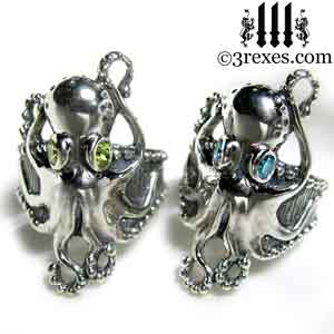 silver-octopus-dream-rings-green-peridot-and-blue-topaz-stone-eyes-sterling-studded-band