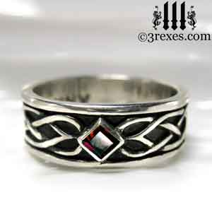 Soul Love Anam Gra Mens Silver Celtic Wedding