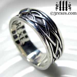 Soul Love Celtic Wedding Ring 925 Sterling Silver