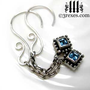silver-studded-jeweled-earrings-short-2-blue-topaz